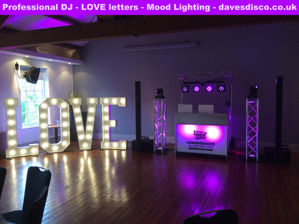 LOVE letter hire for Manchester and Cheshire